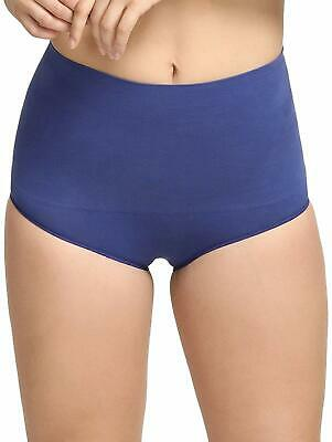 Blue Women's Cotton Waist Hipster Panty with Lace Panels at Sides Girls Panties