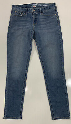 Levis Denizen Womens Modern Skinny Blue Jeans Mid Rise Faded Stretch Size 6M