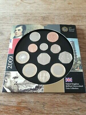 The Royal Mint UK brilliant uncirculated coin collection with Kew garden 50p