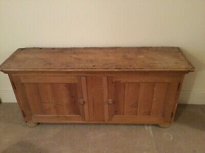 antique wooden small cupboard solid pine under stairs or small space rustic