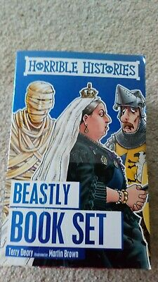 Horrible Histories Collection 10 Beastly Books Set Pack Children's excellent con