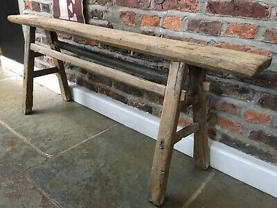 Antique Elm Joiners Bench