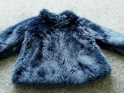 Next Girls Faux Fur Winter Coat.  Age 2 - 3 years.