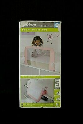 LINDAM East Fit pink Bed Guard suitable 18-60 months   Boxed   C Top