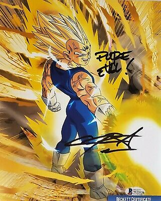 Chris Sabat Signed MAJIN VEGETA 8X10 Photo DRAGON BALL Z BECKETT BAS COA 26