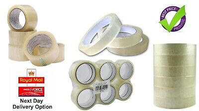 Clear Strong Parcel Packing Tape Carton Sealing Sellotape Packaging 50MM x 66M