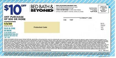 7 Bed Bath & Beyond Coups 2 $10 / $30, 5 20% OFF - 2 ONLINE, 7 IN STORE, 5 EXP'd