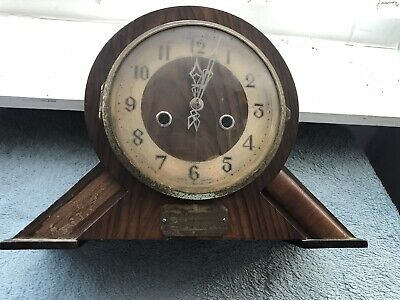 Vintage Clock - Wooden Mantel Chiming Clock 🕰 For Spares Or Repair - Enfield