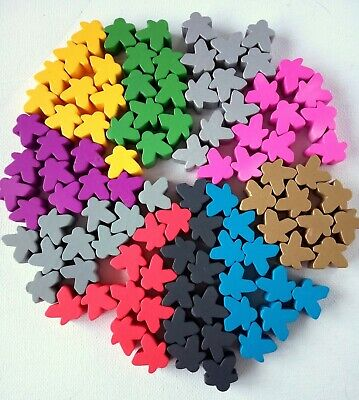 Meeples Wooden Player Tokens Pawns Upgrade Board Games RPG Tabletop 14mm 10 set