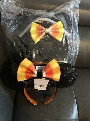Disney Parks Candy Corn Mini Backpack Loungefly Halloween 2019 Mickey Mouse NWT