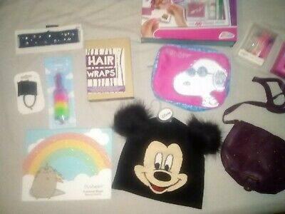 Girls BNWT 8+ Christmas Stocking Fillers Mickey Mouse Handbag Jewelry Art Makeup