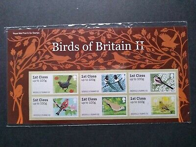 Gb 2011 Birds Of Britain (11) 2 Post And Go Stamps Presentation Pack.