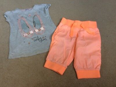 Next Girls Summer Bundle Cropped trousers and top Size 4 Years
