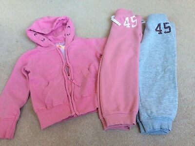 Next Girls pink hoodie and jogger pants  bundle size 4 years VGC!
