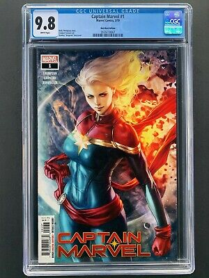Captain Marvel 1  CGC 9.8 NM/M  2019 Walmart Variant Edition Long Hair Artgerm