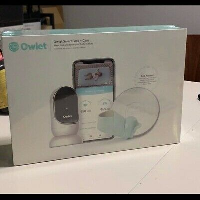 Brand New Owlet Smart Sock + Cam Complete Baby Monitor System - Factory Sealed