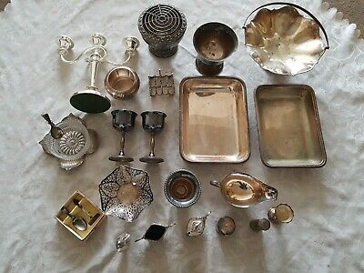 Job Lot Antique and Vintage Silver Plated Plate EPNS Items  Approx 7Kg in Total