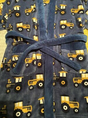 Next Digger Tractor JCB Dressing Gown Christmas 6-7 Years