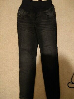 New Look Black Over The Bump Maternity Jeans, Size 10