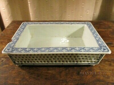 Rare 18th antique Chinese reticulated plant pot