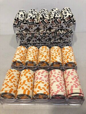 RDR Casino Poker Chips 11.25 Grams 4 Aces Pro Series 497 Pieces FREE SHIPPING