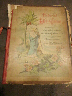 US: Pictorial Life Of Jesus 1892 Verses Original and Selected & 16 Color Pics