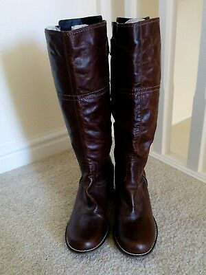 Leather Boots. Brown. Designer AUTOGRAPH, MARKS & SPENCER. Size 7 1/2. M&S £99.