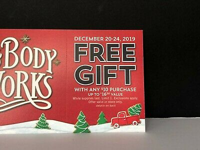 Bath & Body Works x5 Lot Gift Coupon worth $82.50 Value Christmas Gift