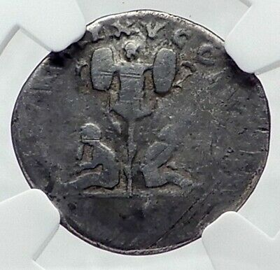 TITUS Authentic Ancient 80AD Rome Silver Roman Coin BRITAIN VICTORY NGC i81360