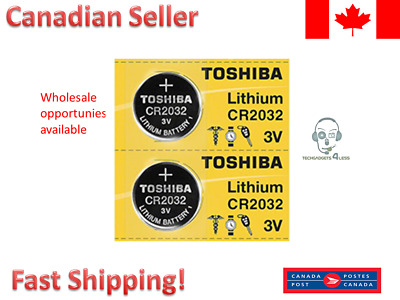 Toshiba OEM CR2032 2032 3 Volt Lithium Coin Battery EXPIRY 2027 (2 Batteries)