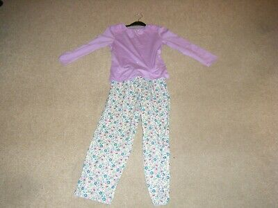 Girls Lilac Long Sleeved Pyjamas Age 6-7 Years from George
