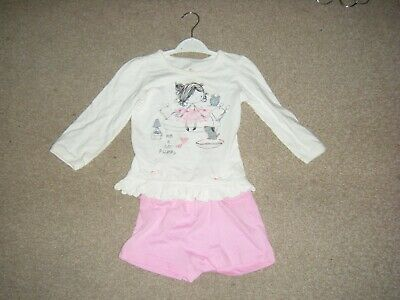 Girls Pink and Cream Pyjamas Age 2-3 Years from George