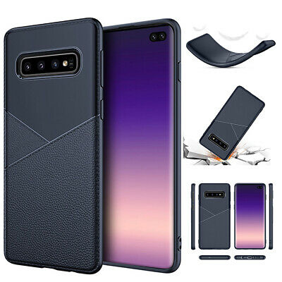 Hybrid Soft Silicone Leather Case Cover For Samsung S10  Note10 Plus 5G J6 J4 J7