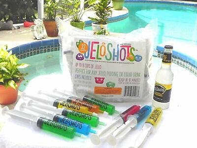 The Original Jeloshot Syringes 32 Party Fun Reusable Individual Ready in 10  L1
