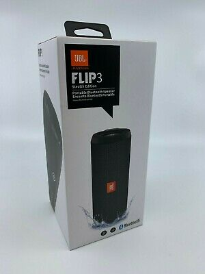 New & Sealed - JBL Flip 3 Stealth Edition Portable Bluetooth Speaker Black