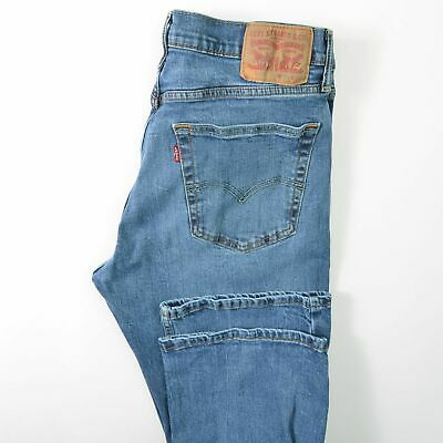 Levis 527 Slim Boot Bootcut Blue Jeans Stretch Mens 34X32