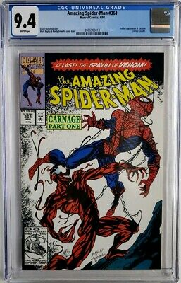 Amazing Spider-Man #361 Cgc 9.4 1St App Carnage 🔥 Venom Key Direct 1St Print