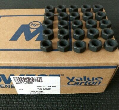 "New Midwest Fastener 3/8""-16 Lock Nuts, Qty Of 25, Black, #06672"