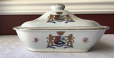 Antique Chinese Export Armorial Porcelain Tureen, Unmarked