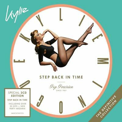 Kylie Minogue Step Back in Time The Definitive Collection 3 CD Digipak NEW