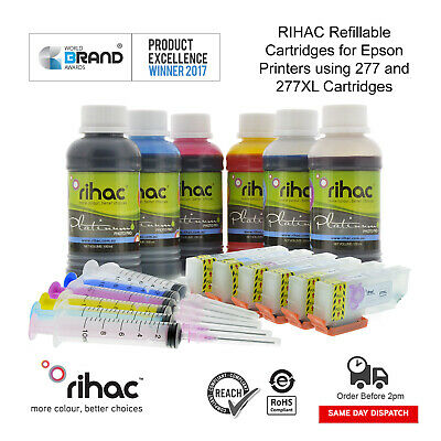 RIHAC Refillable ink cartridges alternative for Epson XP-970 using 277 277XL