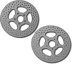 HardDrive Drilled Vented Rear Rotor Stainless Steel for Harley 144605