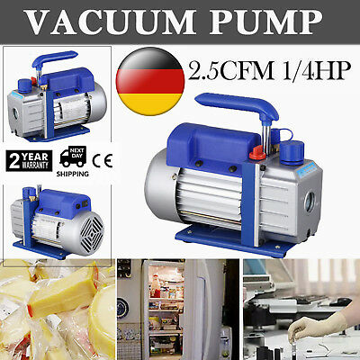 2.5CFM Vacuum Pump Rotary Vane 1Stage 1/4HP HVAC AC Refrigerant Air Conditioning
