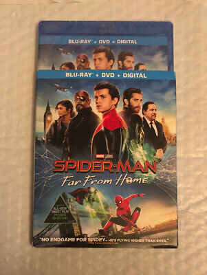 Spider-Man Far From Home (Blu-ray + DVD + Digital) Brand NEW SEALED Marvel
