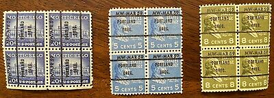 Montgomery Ward Pre Cancel 3 BLOCKS OF 4 MNH W/Gum