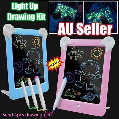 Draw With Light Fun And Developing Toys Luminous Pen Drawing Board Kids Gift S4