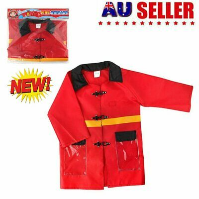 Fireman Toys Firefighter Clothing Suit Children Play House Toy Kids Gift S4