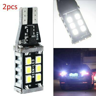 2x W16W T15 921 Rear 30 SMD LED Canbus REVERSE WHITE Lamps Light Bulbs Vauxhall