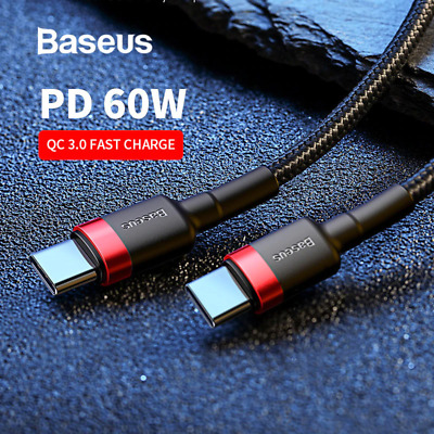 Baseus USB Type C to USB-C Cable QC3.0 60W PD Quick Charge Cable Fast Charging /