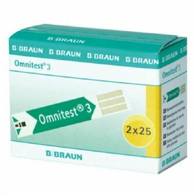 Braun Omnitest 2x25 Blood Glucose Test Strips New